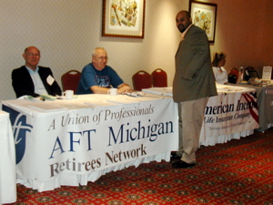Retiree table at AFT Michigan Convention, May 2006